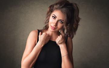 girl, smile, portrait, look, hair, face, makeup, dmitrysn