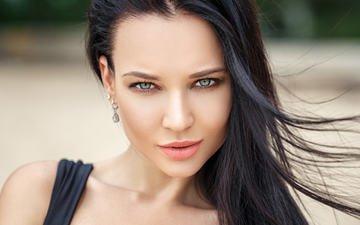 girl, look, hair, face, angelina petrova, denis petrov