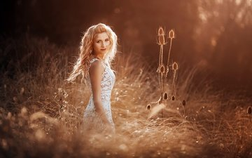 light, the sun, nature, girl, blonde, model, alexander glockner
