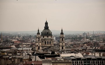 temple, cathedral, the city, hungary, budapest, st. stephen's basilica
