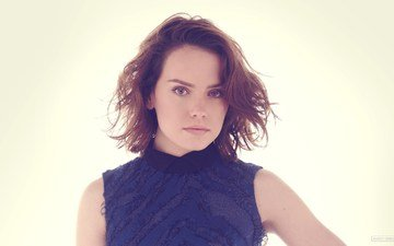 girl, look, hair, face, actress, daisy ridley