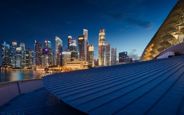 asia, skyscrapers, architecture, roof, singapore, the urban landscape, jonathan danker