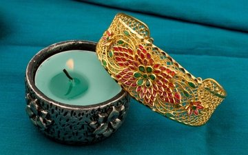 flame, fire, candle, bracelet, decoration