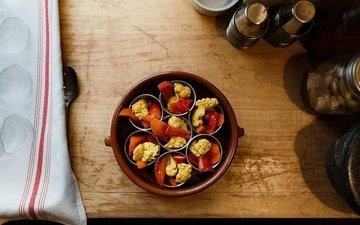 vegetables, carrots, pepper, appetizer, bowl, cauliflower
