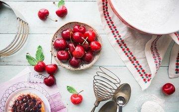 черешня, ягоды, вишня, тарелка