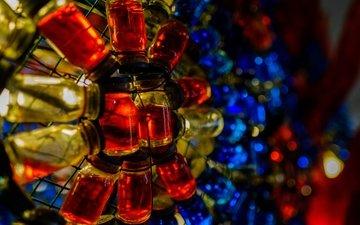 стекло, жидкость, флаконы, боке, баночки, бутылочки