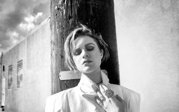 black and white, actress, photoshoot, closed eyes, evan rachel wood