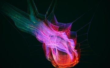 абстракция, разноцветный, сетка