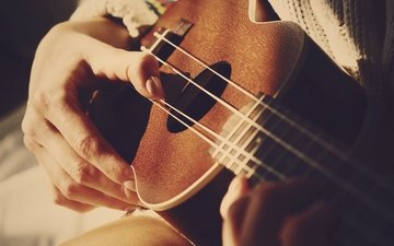 guitar, music, hands, fingers, musical instrument