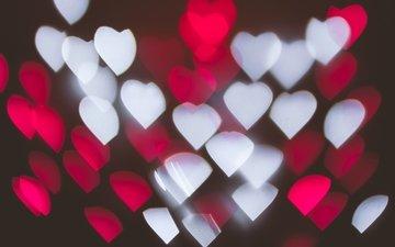 texture, glare, heart, hearts