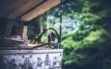 дым, аромотерапия, благовония, ароматические палочки, феншуй