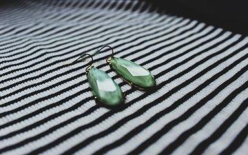 stones, decoration, earrings