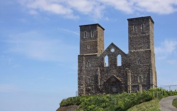 the sky, clouds, england, reculver