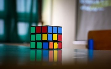 colorful, blur, puzzle, rubik's cube