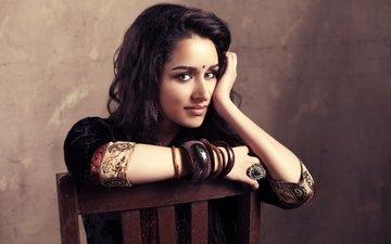 глаза, девушка, поза, брюнетка, модель, губы, лицо, актриса, знаменитость, болливуд, shraddha kapoor, шраддха капур