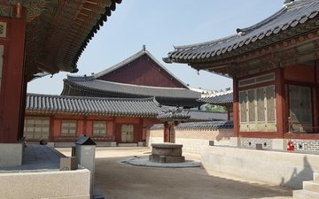 building, south korea, traditional building