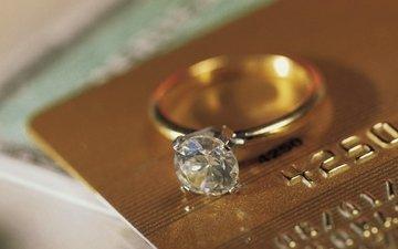 кольцо, золото, алмаз, виза
