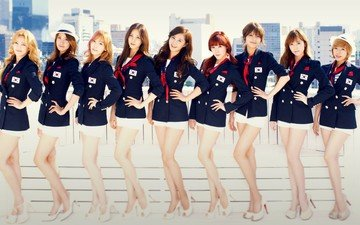 девушка, форма, корея, girls' generation