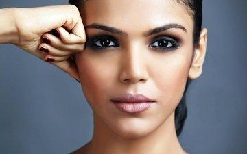eyes, girl, brunette, model, hair, lips, face, makeup, shriya pilgaonkar