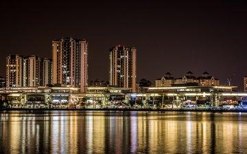 light, night, the city, malaysia, putrajaya