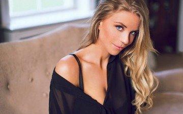 eyes, girl, model, hair, lips, face, makeup, mikkel laumann, by monica halberg, monica halberg