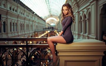 dress, blonde, model, feet, long hair, closed eyes, ivan gorokhov