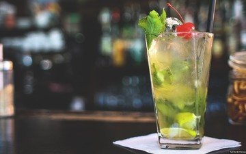 бар, коктейль, мохито