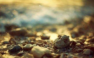 вода, камни, берег, море, пляж