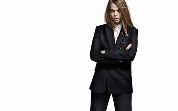 model, actress, white background, costume, cara delevingne