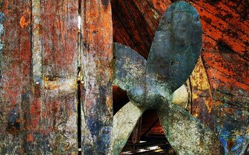 texture, color, the fence, board, rust