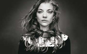 black and white, actress, celebrity, natalie dormer