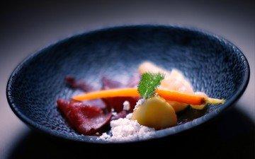 кухня, чашка, мясо, морковь, картофель, блюдо