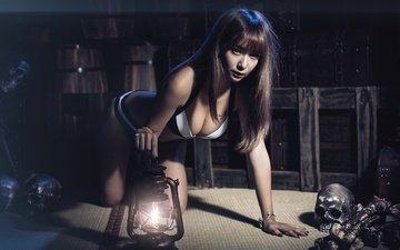 девушка, азиатка