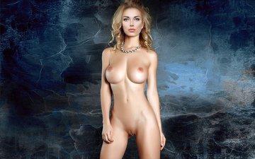 девушка, блондинка, грудь, сексапильная