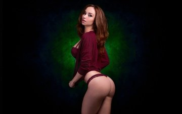 girl, background, model, jacket, beauty, ass