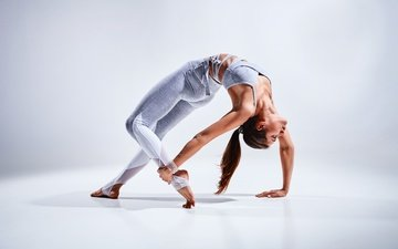 girl, figure, fitness, yoga, workout