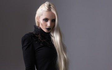 девушка, блондинка, портрет, взгляд, лицо, макияж, eloise, бл