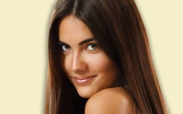 girl, portrait, look, brown hair, long hair
