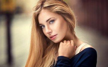 девушка, портрет, взгляд, волосы, фотограф, лицо, красивая, lods franck