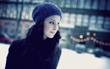 winter, girl, look, hat, lena meyer-landrut