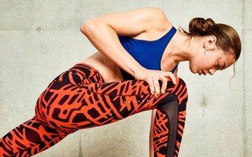 girl, fitness, sports wear, training, workout