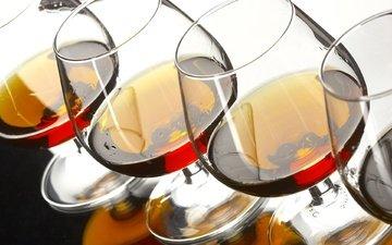напиток, бокал, стекло, посуда, бокалы, алкоголь, коньяк, фужер