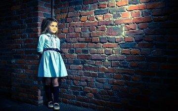 dress, smile, wall, girl, masonry, fabienne van brabant