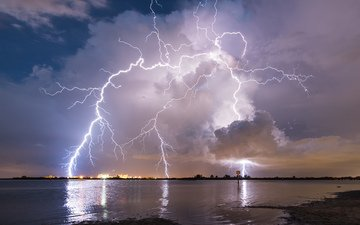 nature, photo, lightning, the storm, rain rain