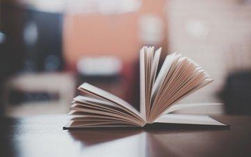 размытость, книга, страницы, чтение