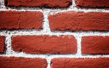 текстура, стена, кирпич, крупный план, кирпичи