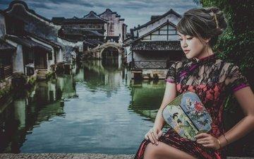 style, girl, dress, the city, asian, fan