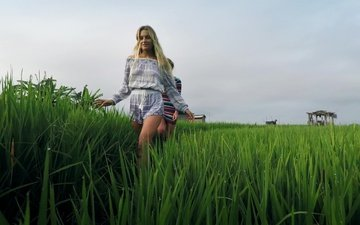 grass, nature, mood, background, girls