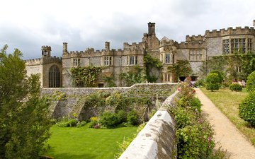 castle, uk, architecture, palace, palace, haddon hall, haddon hall