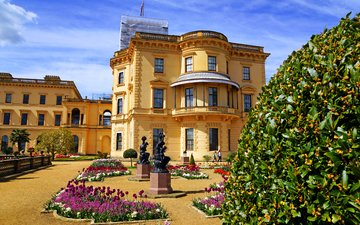 castle, uk, architecture, palace, palace osborne house, osborne house